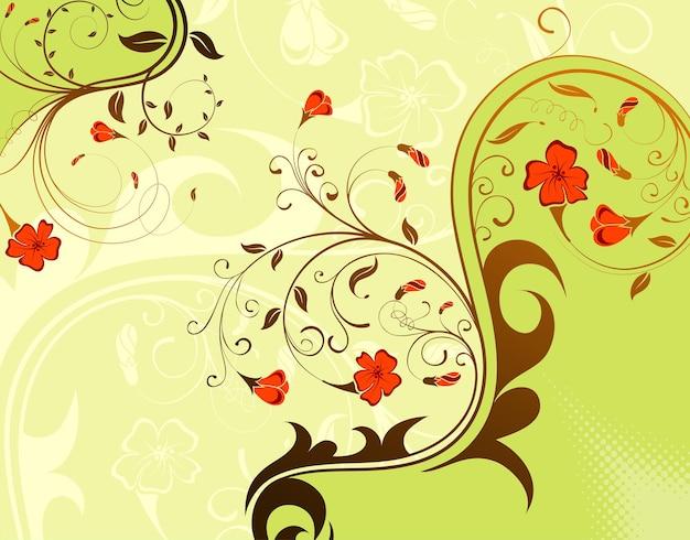 Blumenhintergrund, element für design, vektorillustration