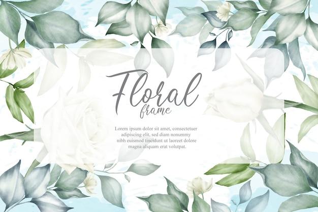 Blumenhintergrund für hochzeitseinladung