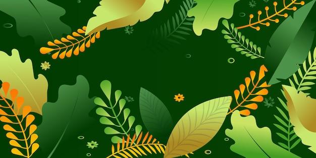 Blumenhintergrund für web- und apps-flache illustration Premium Vektoren