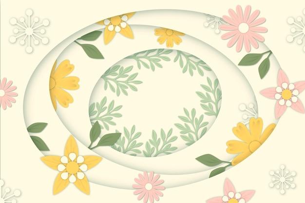 Blumenhintergrund im papierstil