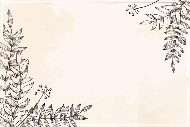 Blumenhintergrund mit pflanzen