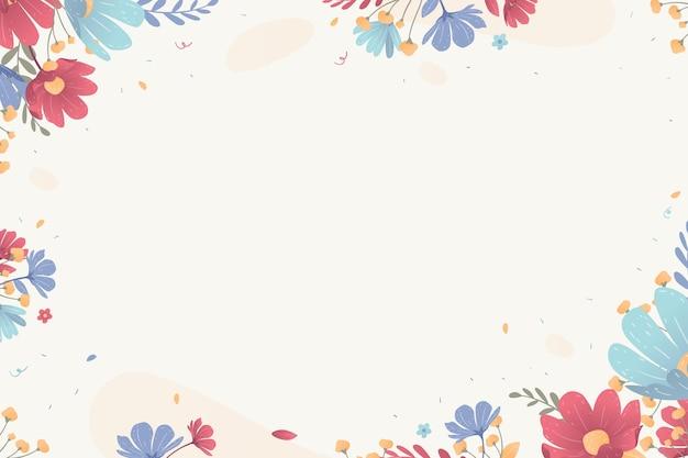 Blumenhintergrund mit rahmen