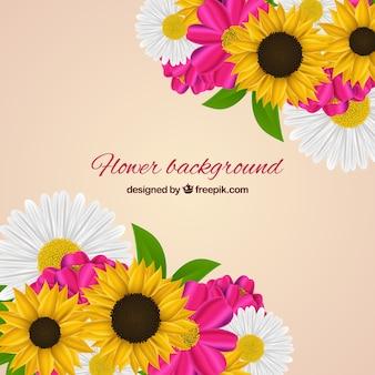 Blumenhintergrund mit realistischer art