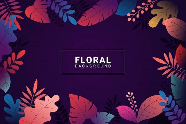 Blumenhintergrund mit steigungsfarben