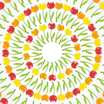 Blumenhintergrund mit tulpen-vektor-illustration