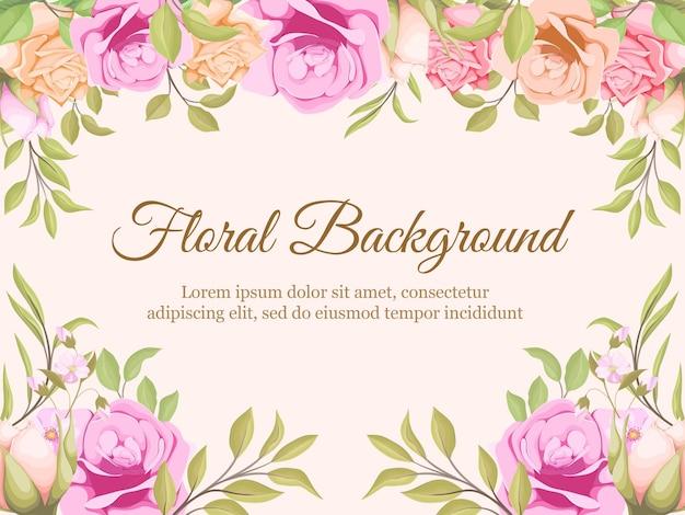 Blumenhintergrund-schablonendesign