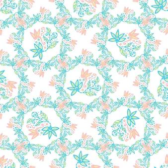 Blumenhintergrund. schönheitsvektorbeschaffenheit in den pastellfarben. netter hintergrund für textil und dekoration