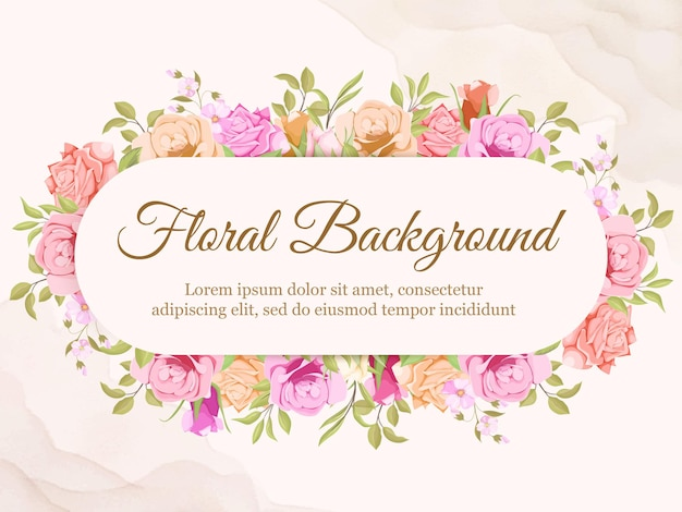 Blumenhintergrund-vektor-schablonen-hochzeit