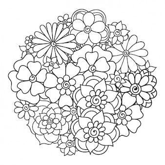Blumenhintergrundauslegung