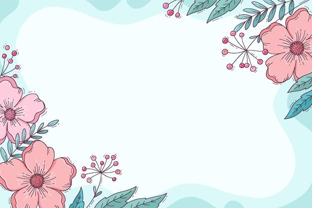 Blumenhintergrundentwurf