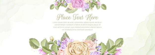 Blumenhintergrundfahne für hochzeit