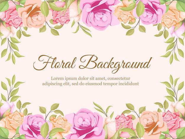 Blumenhintergrundschablone