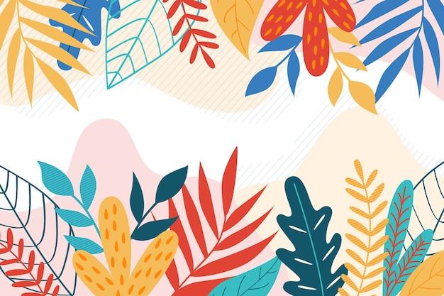 Blumenhintergrundthema der flachen designzusammenfassung