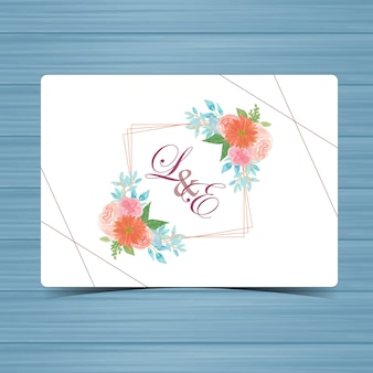 Blumenhochzeits-abzeichen mit schönen blumen