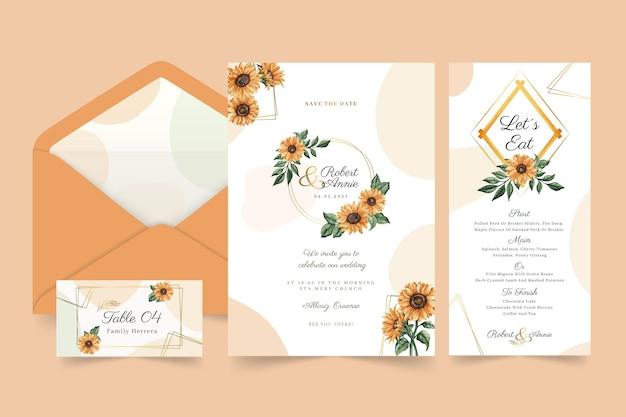 Blumenhochzeits-briefpapier-sammlung