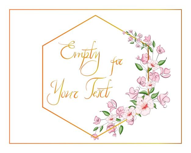 Blumenhochzeits-einladung elegant laden karte ein