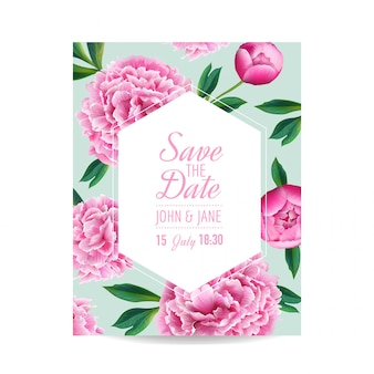 Blumenhochzeits-einladung save the date card