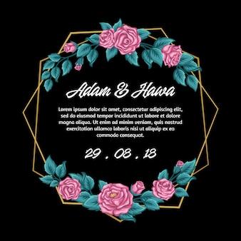 Blumenhochzeits-einladung
