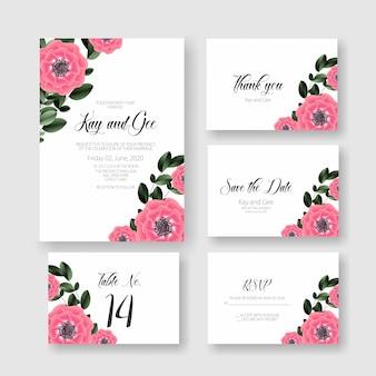 Blumenhochzeits-einladungs-karten-schablone - schöne, erstaunliche blumenhochzeits-karten-klage