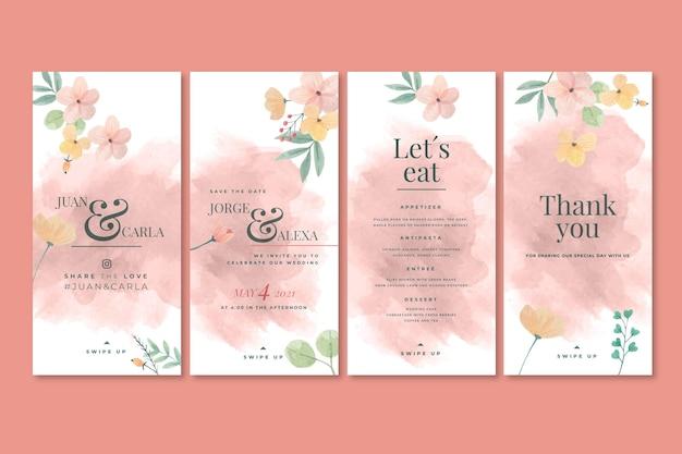 Blumenhochzeits-instagram-geschichten