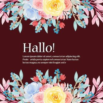 Blumenhochzeits-rahmen mit schönen blumen