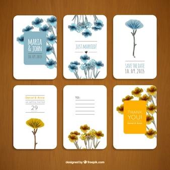 Blumenhochzeitseinladungen