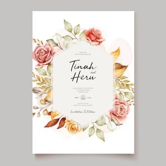 Blumenhochzeitseinladungskarte