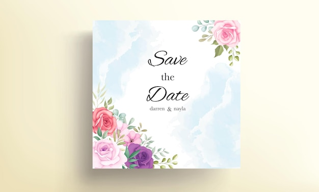 Blumenhochzeitseinladungskartenentwurf
