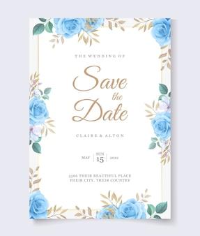 Blumenhochzeitseinladungskartenschablone