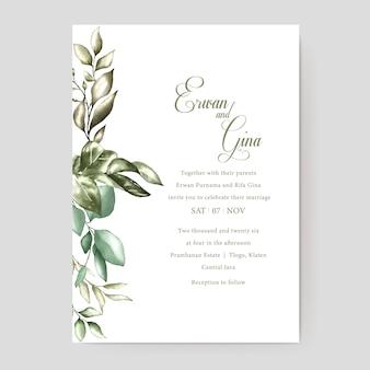 Blumenhochzeitseinladungsschablonenkartendesign
