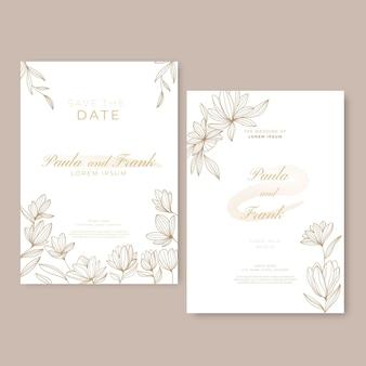 Blumenhochzeitseinladungsvorlage
