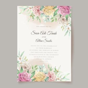 Blumenhochzeitskarte des aquarells
