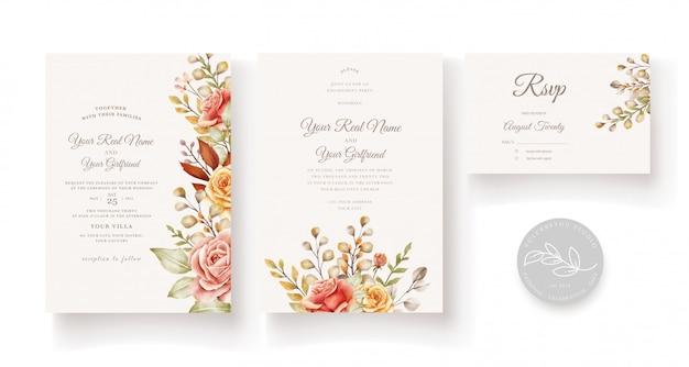 Blumenhochzeitskarte