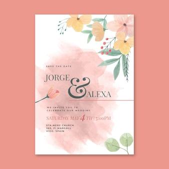 Blumenhochzeitskartenkonzept