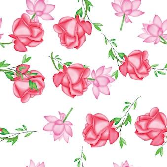 Blumenhochzeitskartenschablone des schönen aquarells