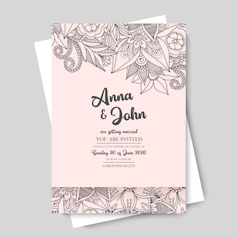Blumenhochzeitsschablone - rosa blumengrenze