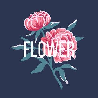 Blumenillustrationsvektor