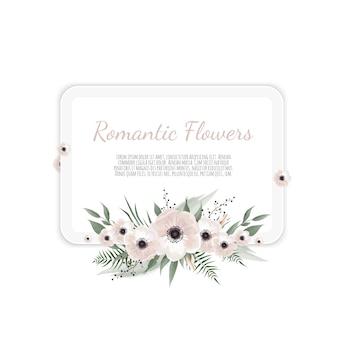 Blumenkarte. gruß, postkartenhochzeit laden schablone ein.