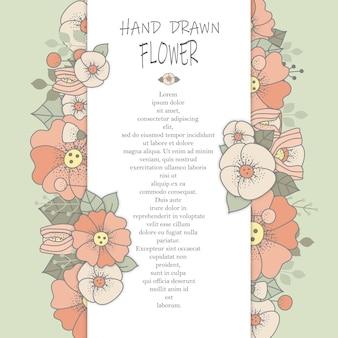 Blumenkartenvorlage
