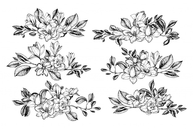 Blumenkompositionen mit zweigen