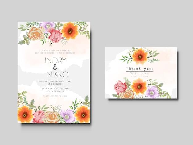 Blumenkonzept der schönen und eleganten hochzeitseinladungskarten