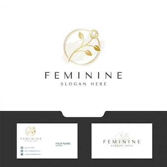 Blumenkonzept für feminines logo-design