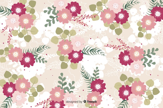 Blumenkonzept für hintergrunddesign