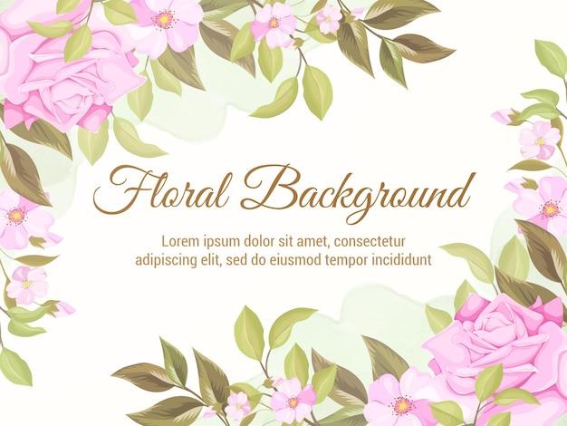 Blumenkonzept hochzeit hintergrund vorlage design