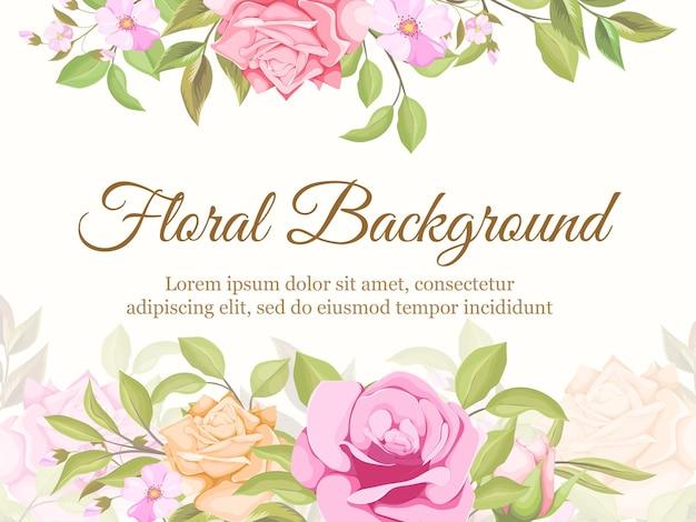 Blumenkonzept hochzeitshintergrund
