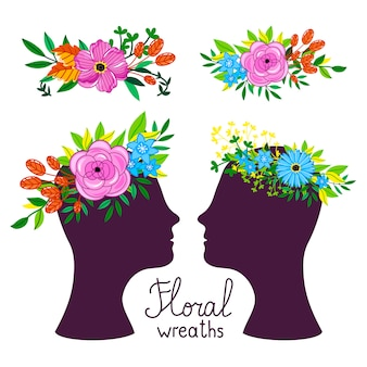 Blumenkopfschmuck vektor-illustration