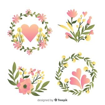 Blumenkränze und -sträuße zum valentinstag