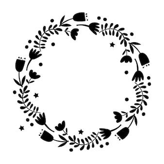 Blumenkranz gestaltungselement. vektor-illustration.
