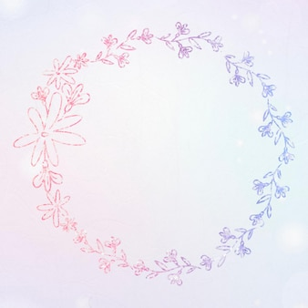 Blumenkranz glitzerbordüre