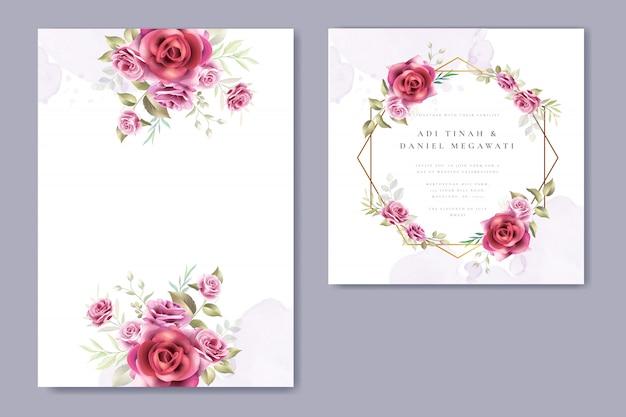 Blumenkranz hochzeit einladung kartenvorlage